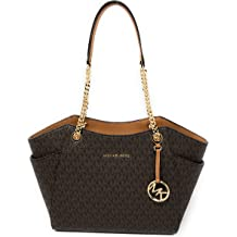 b6fd25b5cca5 Michael Kors Women's Jet Set Travel - Large Chain Shoulder Tote
