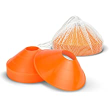 bcff2a380 GoSports Agility Training Sport Cone 20 Pack with Tote Bag - Low Profile  Field Markers for