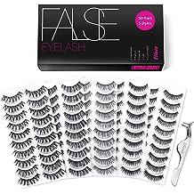 97b78a30010 Eliace 50 Pairs 5 Styles Lashes Handmade False Eyelashes Set Professional Fake  Eyelashes Pack,10 Pairs Eyes Lashes Each Style,Very Natural Soft .