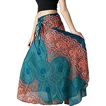 653ddf46a4982 Bangkokpants Women's Long Hippie Bohemian Skirt Gypsy Dress Boho Clothes  Flowers One