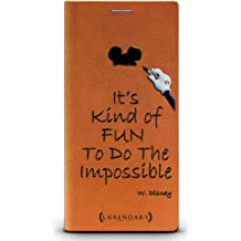 ac3ccc3f4f1 Luxendary W Disney Quote Cool Design iPhone X Leather Wallet Case - Tawny  Brown