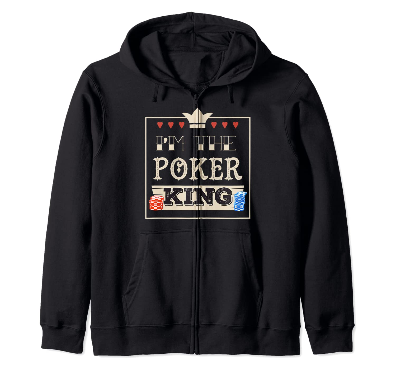 Cool Poker Apparel Im The Poker King Zip Hoodie Buy Products Online With Ubuy Bahrain In Affordable Prices B07wr69jhp